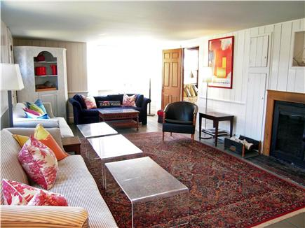 Chatham Harbor, Chatham Town Cape Cod vacation rental - formal living room with 50'' TV and one of three fireplaces.