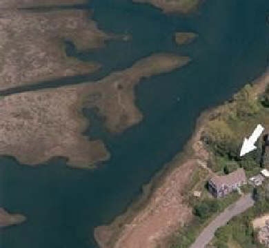 Barnstable Village Cape Cod vacation rental - Aerial photo showing house just steps away from the water