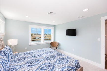 Barnstable Village Cape Cod vacation rental - Second of two master suites, windows look west over the marsh