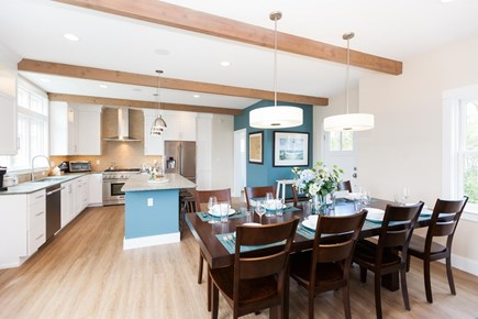 Barnstable Village Cape Cod vacation rental - Dining area and kitchen beyond