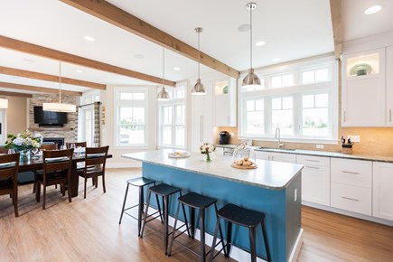 Barnstable Village Cape Cod vacation rental - Kitchen with island seating