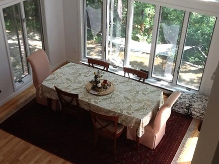 Falmouth, Waquoit Bay Cape Cod vacation rental - Dining area from  upstairs