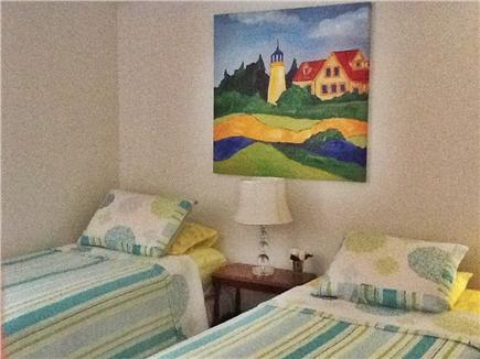 Falmouth, Waquoit Bay Cape Cod vacation rental - Upstairs bedroom, two twin beds, large closet and dressser