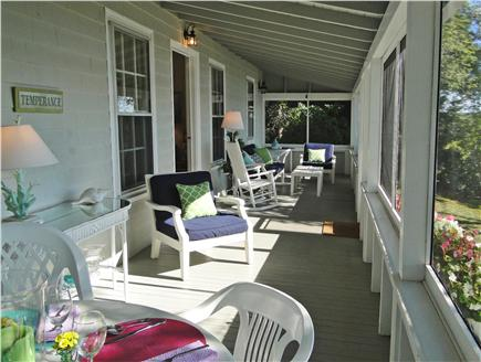 Centerville Centerville vacation rental - Screened in porch overlooking water, great breakfast spot
