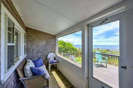 Dennis Port Cape Cod vacation rental - Screened in porch with a view!