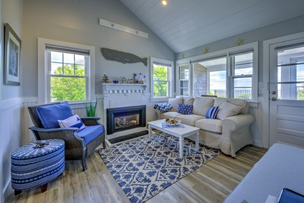 Dennis Port Cape Cod vacation rental - Living room with large screen TV
