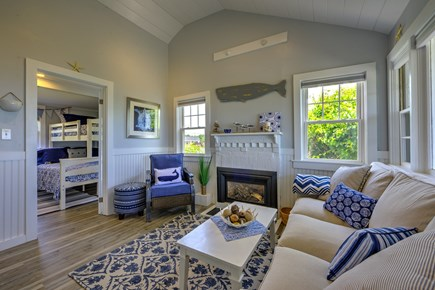 Dennis Port Cape Cod vacation rental - Gas fireplace for cool nights.