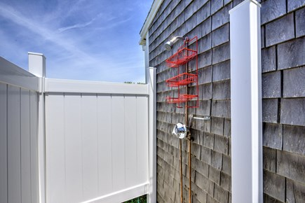 Dennis Port Cape Cod vacation rental - Newly enclosed outdoor shower.