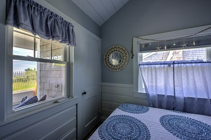 Dennis Port Cape Cod vacation rental - Queen bed with a view and tv.