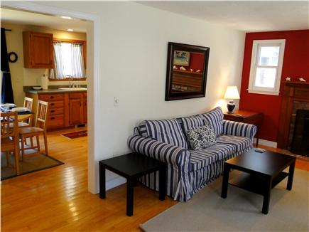 Chatham Cape Cod vacation rental - Living room enters into dining and kitchen areas