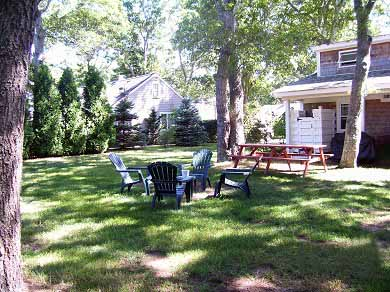 Falmouth Heights Cape Cod vacation rental - Backyard-Shady and private