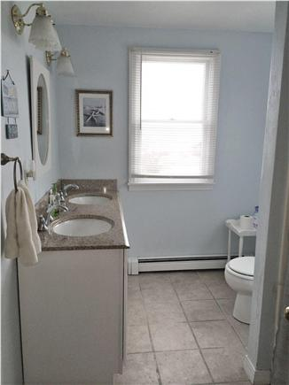 Plymouth MA vacation rental - Double granite sink with tub and shower.