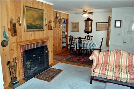 Hyannis Cape Cod vacation rental - Living room looking into dining room