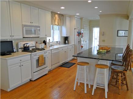 Mashpee New Seabury/Popponesse Cape Cod vacation rental - Large kitchen with breakfast bar