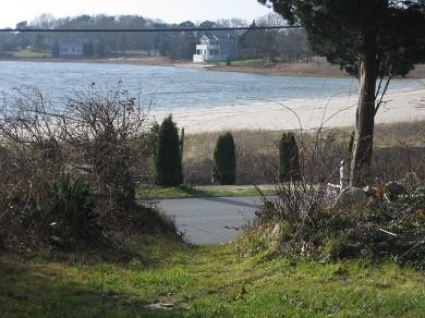 Pocasset Pocasset vacation rental - End of my property with beach right across the street