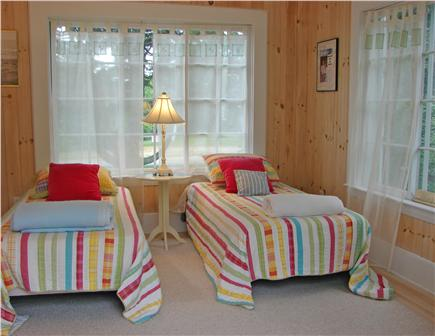 West Yarmouth Cape Cod vacation rental - Charming twin bedroom on first floor,  French doors to terrace