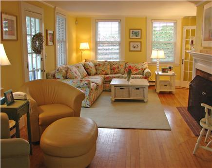West Yarmouth Cape Cod vacation rental - Large living room with fireplace and two sitting areas