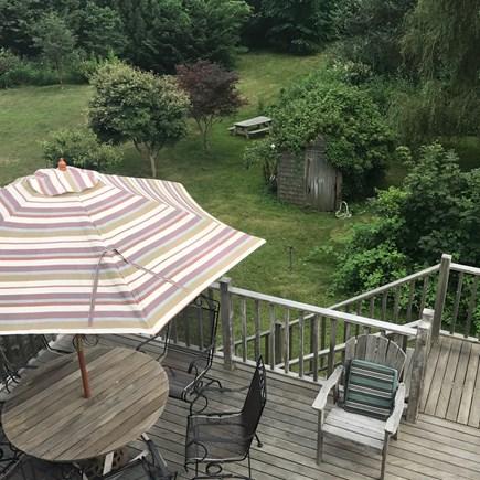 Wellfleet Cape Cod vacation rental - Back deck overlooking yard