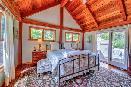 Centerville Centerville vacation rental - Master bedroom opens to deck with hot tub