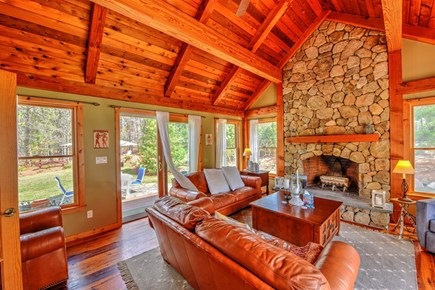 Centerville Centerville vacation rental - Post and Beam  soaring ceilings and a fieldstone fireplace
