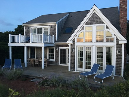Wellfleet Cape Cod vacation rental - Spacious deck for sunning, grilling & teak set for sunset dinners