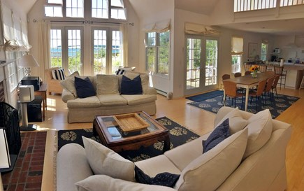 Wellfleet Cape Cod vacation rental - Open floor plan - kitchen to dining to living room