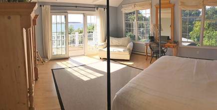 Wellfleet Cape Cod vacation rental - Master bedroom with private bath, private deck,  full water view