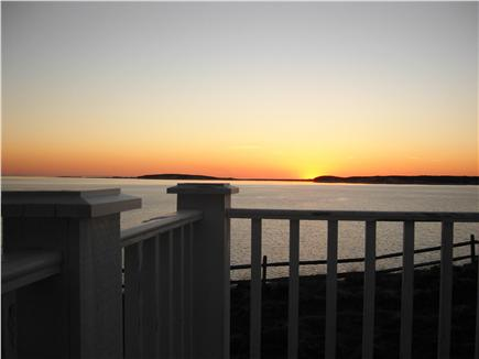 Wellfleet Cape Cod vacation rental - Sunset view from private master bedroom deck
