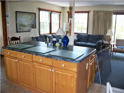 West Dennis Cape Cod vacation rental - Spacious living room and kitchen area.