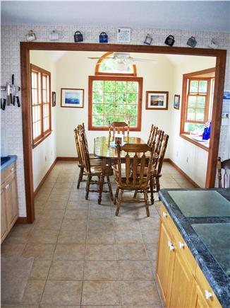 West Dennis Cape Cod vacation rental - Newly remodeled kitchen and new dinette addition.