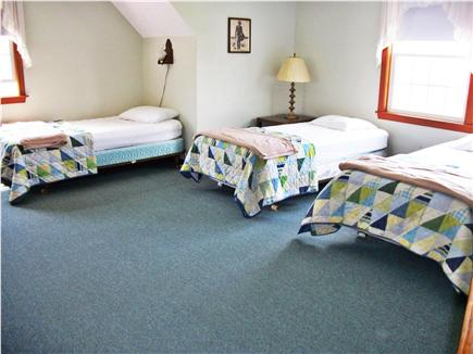 West Dennis Cape Cod vacation rental - Upstairs bedroom #2 with four twin beds.