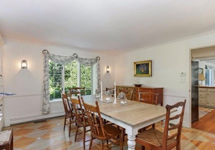 North Chatham Cape Cod vacation rental - Dining Table extends to seat 12-14.
