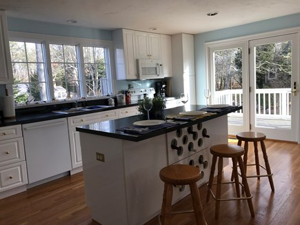Chatham Cape Cod vacation rental - Kitchen with French Doors to Deck.