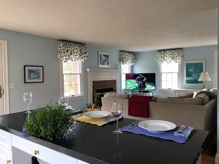 Chatham Cape Cod vacation rental - Open Kitchen to Living Room- 55 inch UHD TV streaming NETFLIX!