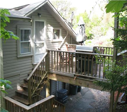 Wellfleet central located Cape Cod vacation rental - Deck with table chairs and grill