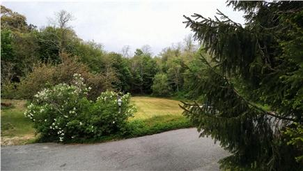 Wellfleet central located Cape Cod vacation rental - View from deck, open field
