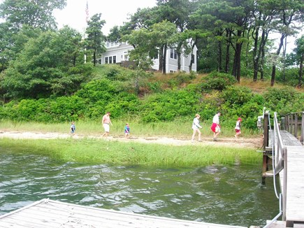 Chatham Cape Cod vacation rental - On your private beach, approaching your private dock!