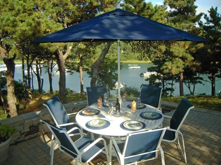 Chatham Cape Cod vacation rental - Dine on your waterfront terrace with views of Chatham village!