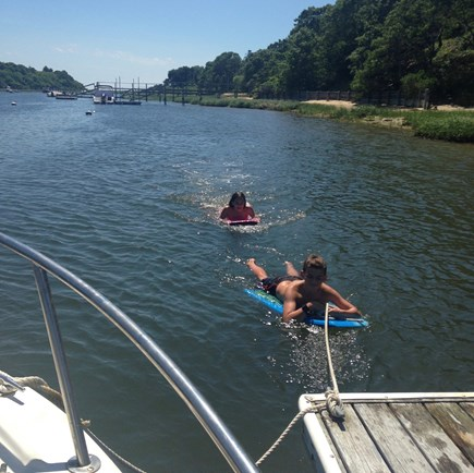 Chatham Cape Cod vacation rental - Swimming off of the Dock!