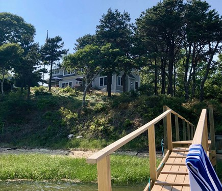 Chatham Cape Cod vacation rental - Salt Waterfront!! Situated on a bluff with Private Dock!
