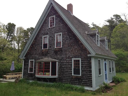 'The Back Woods,'  Wellfleet Cape Cod vacation rental - Living Room side with bay window