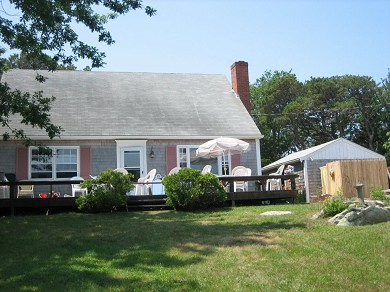Tonset area of E. Orleans Cape Cod vacation rental - Deck/front facing view