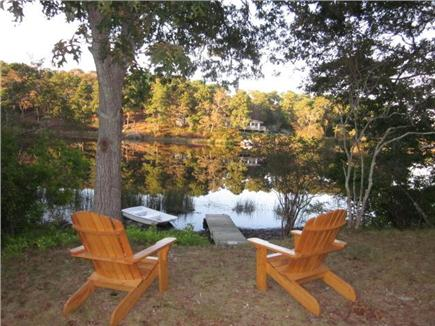 Chatham Cape Cod vacation rental - Enjoy Ryder Pond from our own handmade Adirondeck chairs