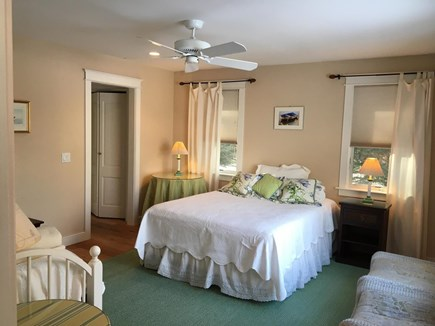 Chatham Cape Cod vacation rental - West Bedroom w/queen & single, 2/closet hall to private bathroom