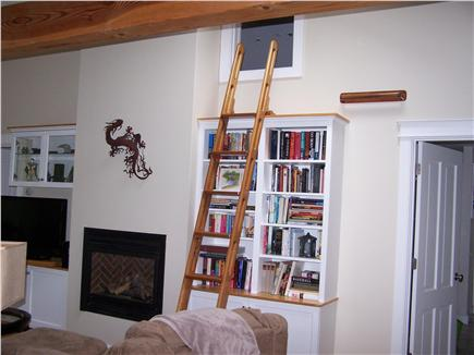 Chatham Cape Cod vacation rental - Library, Gas Fireplace & Mahogany Ships Ladder to Loft