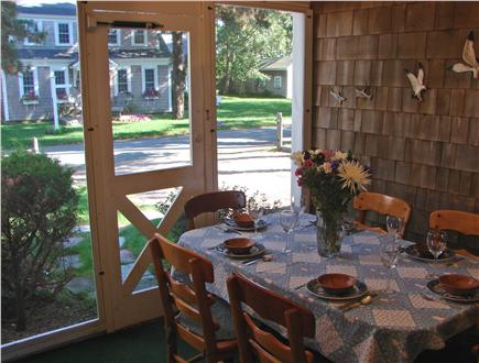 Harwich Port Cape Cod vacation rental - Screened in porch, great for relaxing, reading and dining