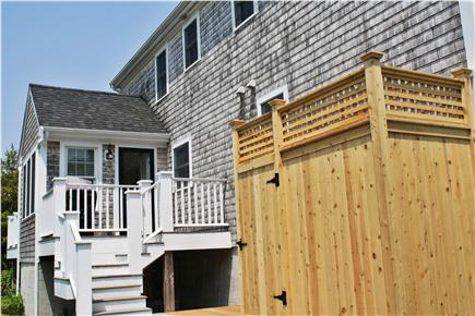 West Yarmouth Cape Cod vacation rental - Back deck and newly installed outdoor shower.