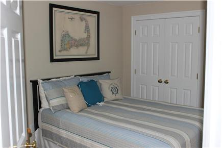 West Yarmouth Cape Cod vacation rental - Third bedroom with a queen bed and wall mounted TV/DVD player