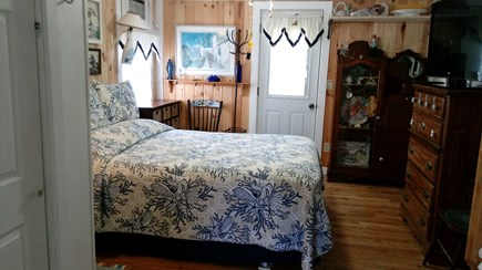 Dennis Cape Cod vacation rental - Master bedroom has queen size bed and washer and dryer and AC