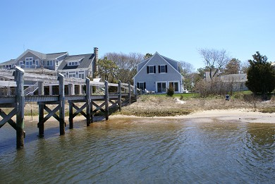 Mashpee Cape Cod vacation rental - View from the deepwater dock on Little River